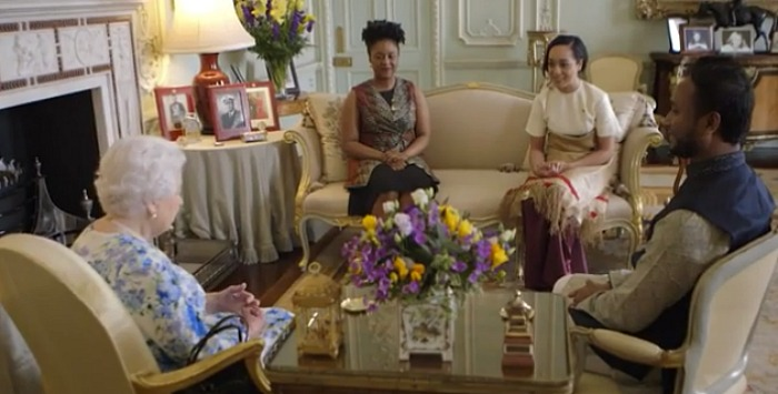 The queen met with young Commonwealth leaders. Source: Channel 7/Queen Of The World.