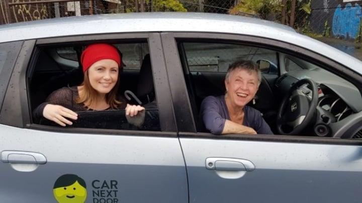 Jay Novak, driving, makes extra money thanks to the sharing economy. Source: Jay Novak
