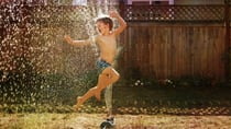 We'd keep cool by getting outside and playing under the sprinkler. Source: Pixabay