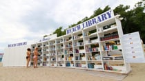 What a book lovers dream - a library right on the beach! Getty Imges