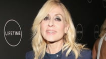 Judith Light wowed in a standout navy power suit as she attended the Lifetime Winter Movies Mixer on Wednesday. Source: Getty