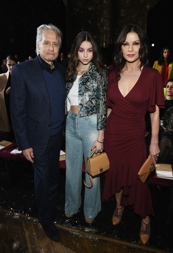 Carys, 15, joined her famous parents at New York Fashion Week. Source: Getty.
