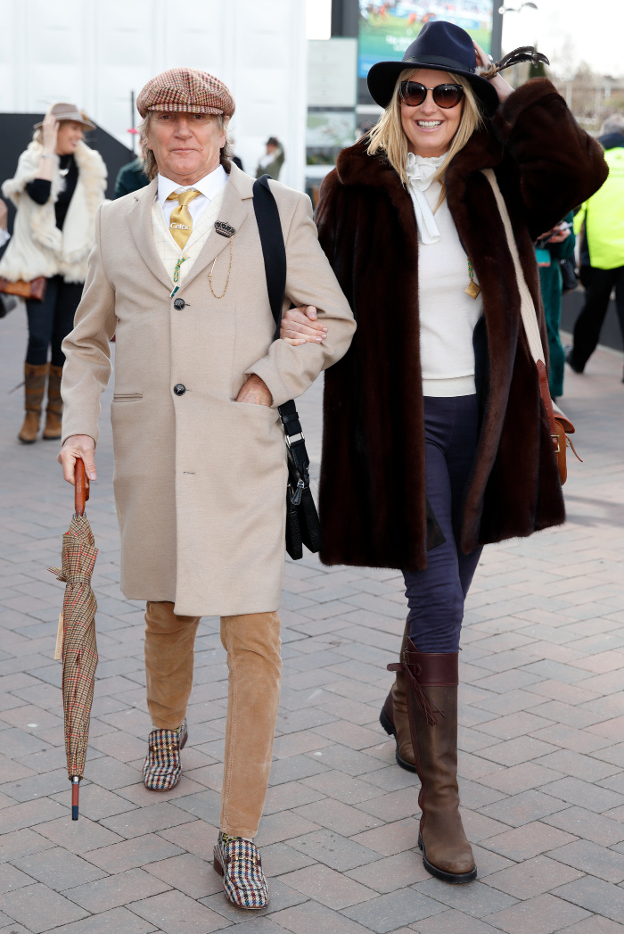 Rod Stewart and Penny Lancaster enjoyed a day out at Cheltenham Festival.