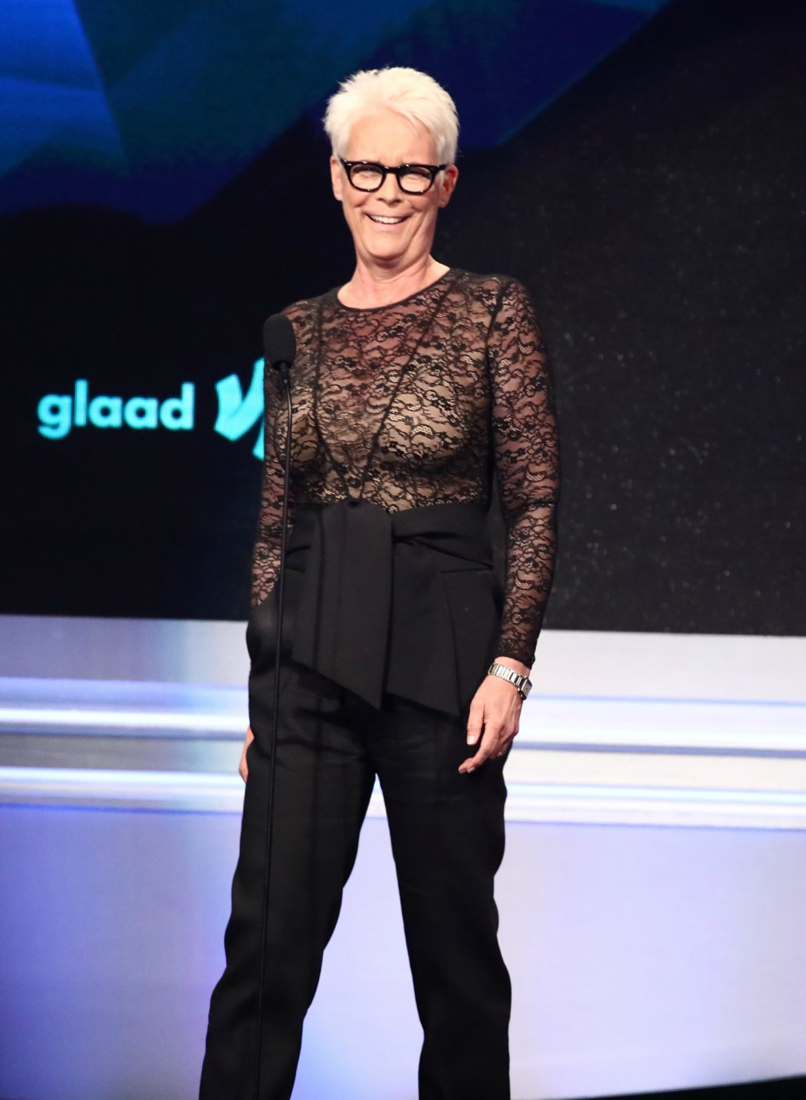 Jamie Lee Curtis attended this year's GLAAD Awards in Los Angeles.