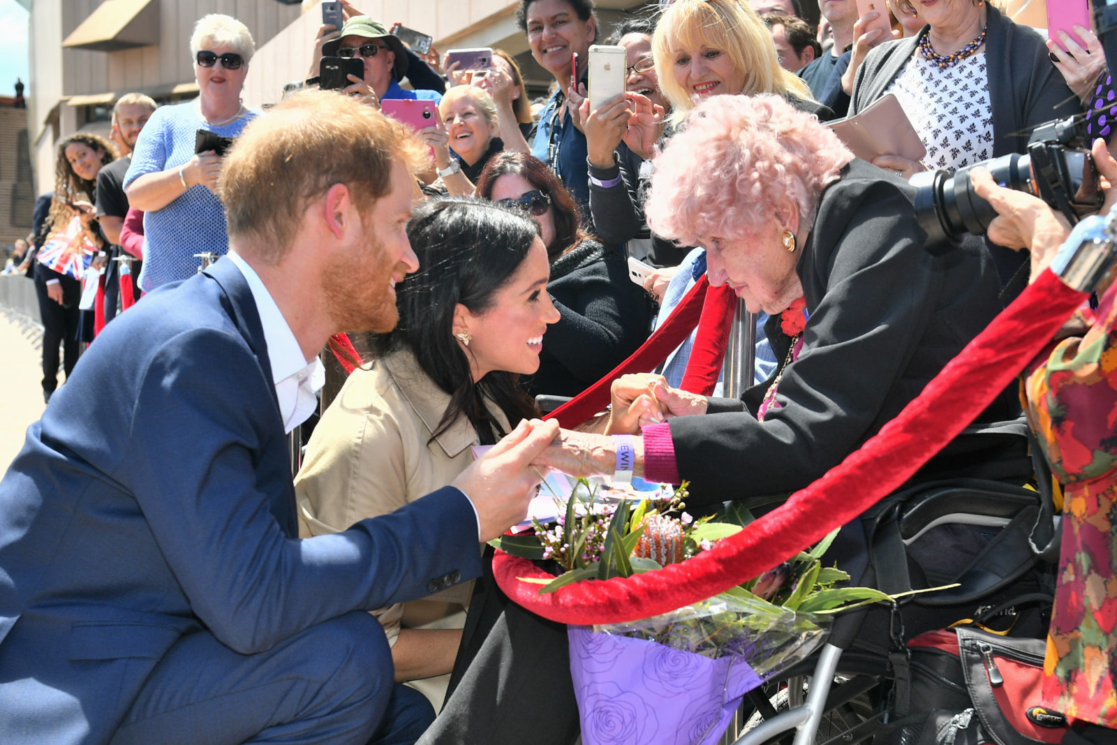 Harry introduced Daphne to his wife Meghan in October last year. Source: Getty.