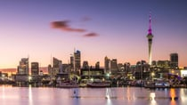 Looking across the harbour towards the city of Auckland at dawn. Source: Matteo Colombo/Getty Images