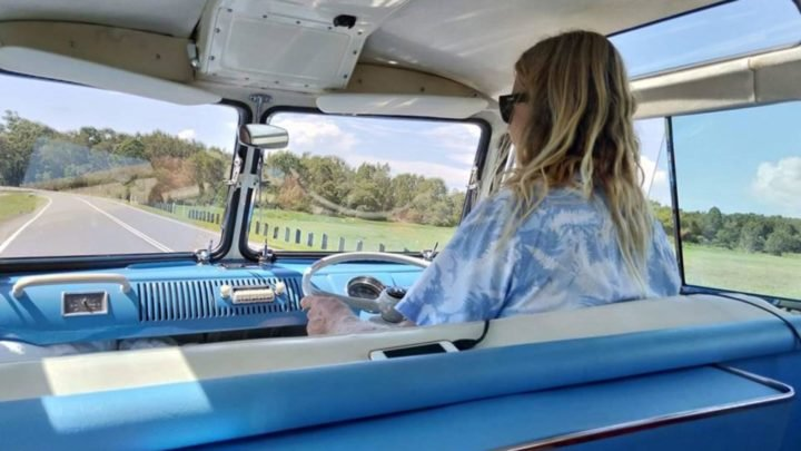 """""""He's a Blonde-Headed Stompie-Wompie Real Gone Surfer Boy"""" ... Travelling by Kombi around the Sunshine Coast hinterland thanks to Creative Tours and Events. Source: Robyn McCoy"""