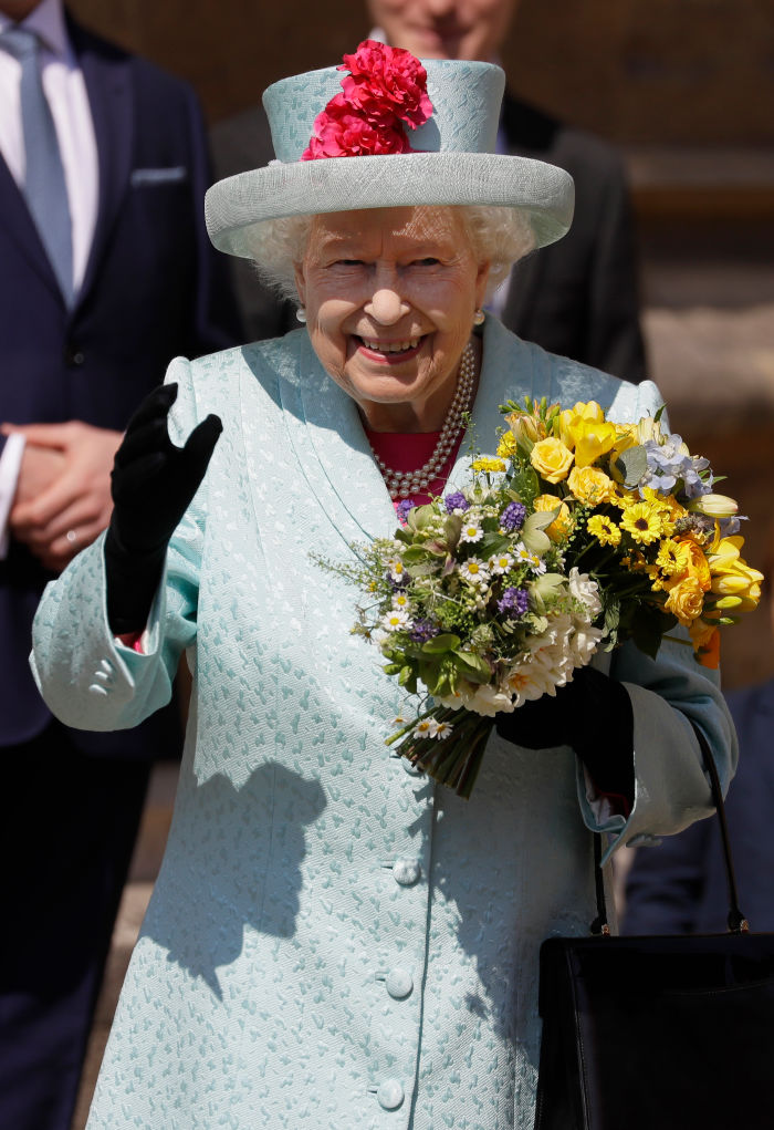 The church service coincided with the Queen's 93rd birthday. Source: Getty.