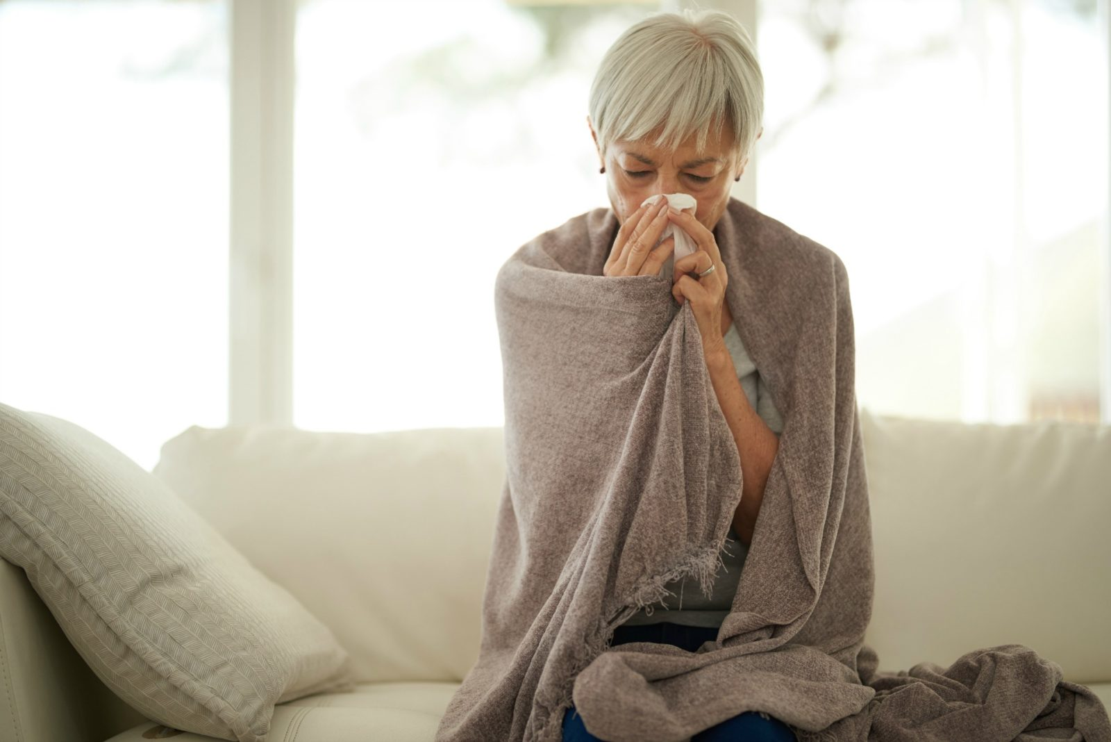 Older people have weaker immune systems and are more prone to the influenza virus.