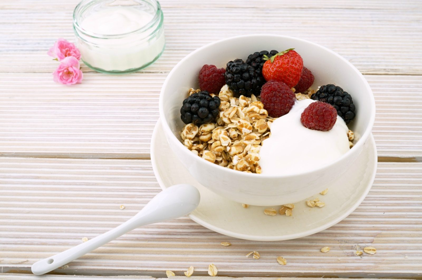 Yogurt is a good example of a food rich in probiotics.