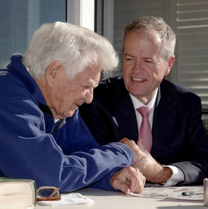 Bob Hawke and Bill Shorten enjoyed a nice chat together in the lead up to the election last week.