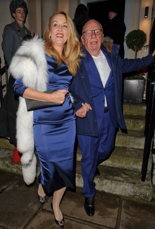 Jerry Hall is married to Rupert Murdoch. Source: Getty.