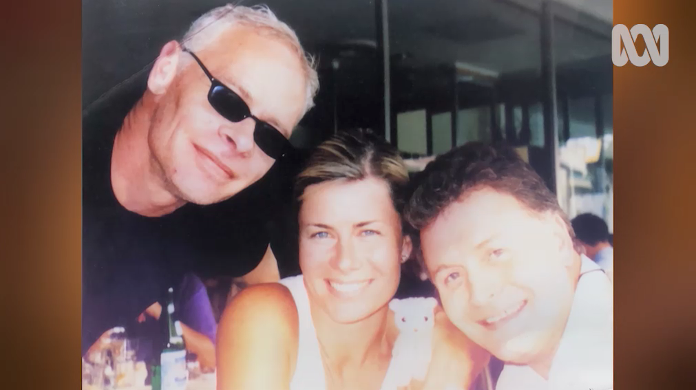 Deborah Hutton with both of her late brothers. Source: ABC/Anh's Brush With Fame.