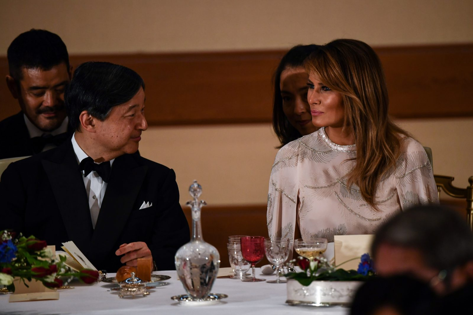 US First Lady Melania Trump and Japan's Emperor Naruhito. Source: Getty.