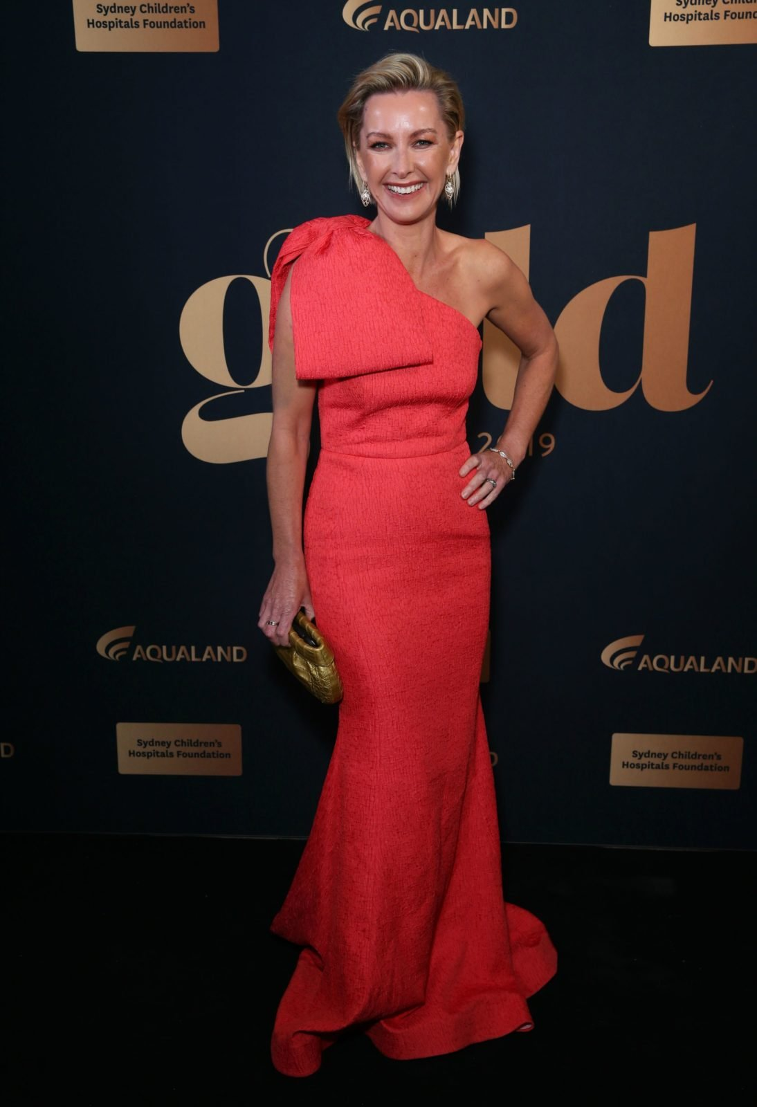 Deborah Knight looked incredible in a floor-length red dress. Source: Getty.