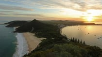 Sunset at Tomaree lookout in Port Stephens, NSW, Australia. Source: Getty Images