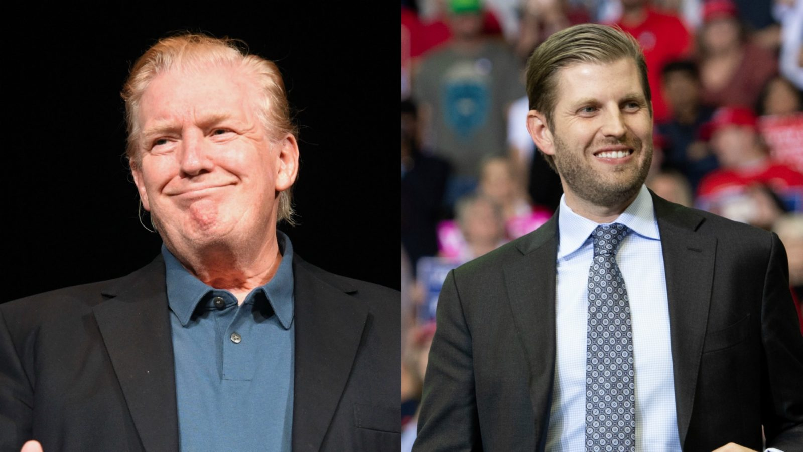 Donald Trump stepped out with a new hairstyle on Sunday with many claiming it is quite similar to his son Eric's regular hair-do.