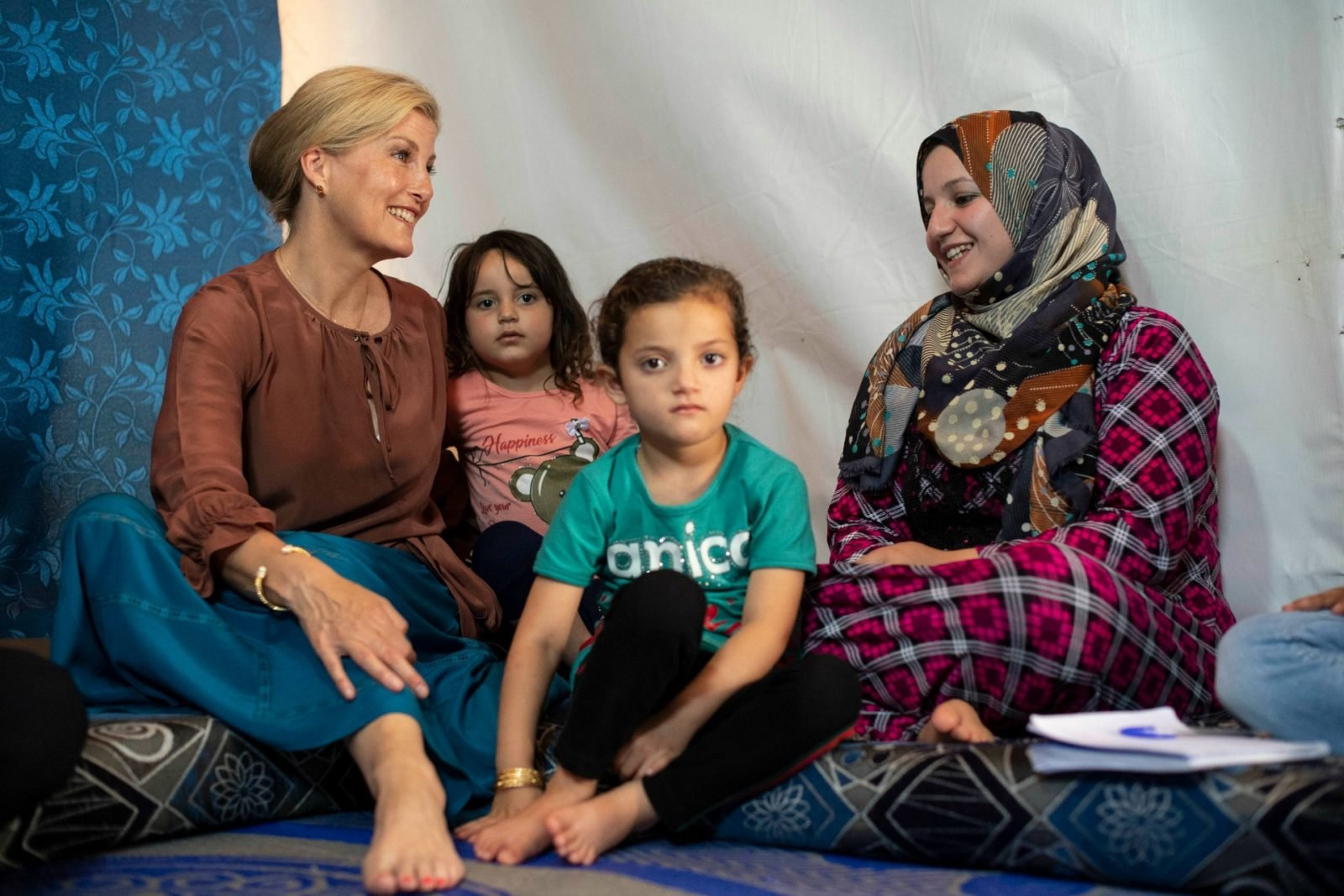 Sophie Wessex met with families on her first visit to Lebanon.