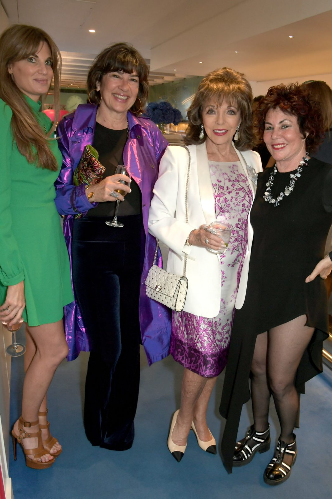 Jemima Goldsmith, Christiane Amanpour, Dame Joan Collins and Ruby Wax joined forces at the bash. Source: Getty.