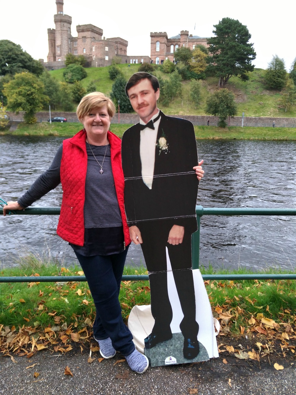 Michelle has travelled right across Europe with the cardboard cut-out. Source: Michelle Bourke (supplied).