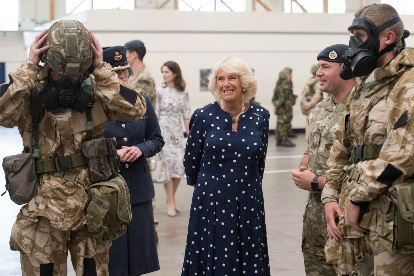 The Duchess of Cornwall flashed a beaming smile on the outing. Source: Getty.