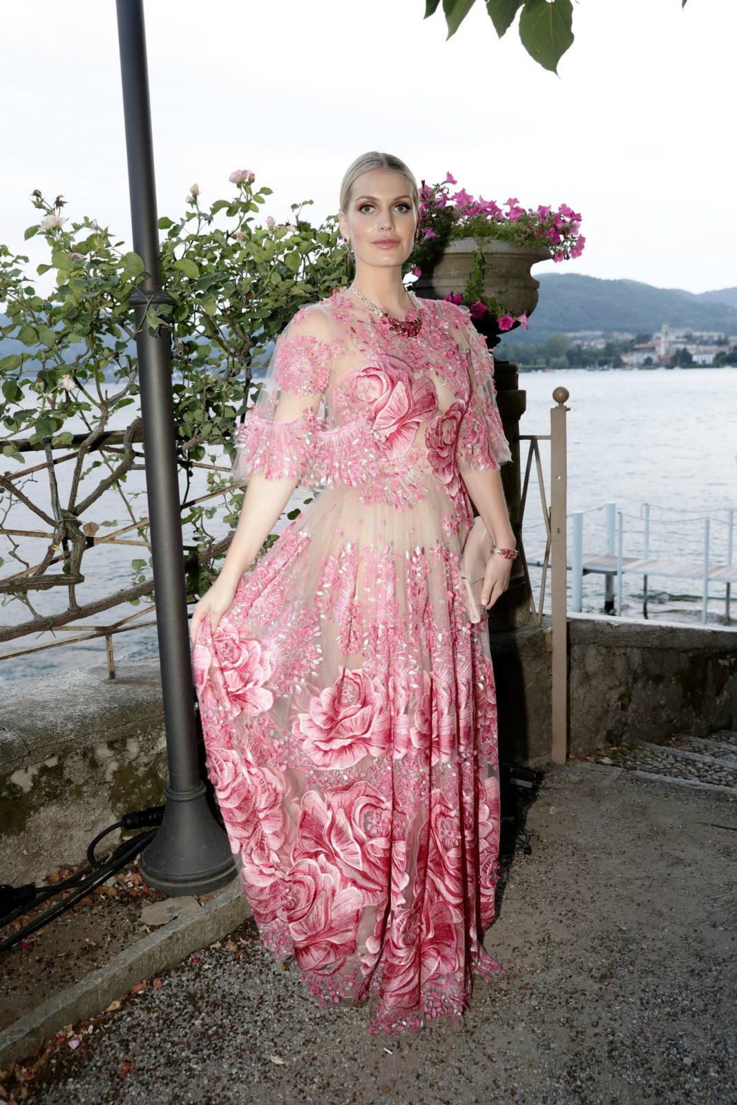 Lady Kitty Spencer floral fashion
