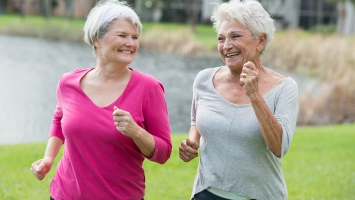 Exercising with a friend is one of the most effective ways to stick to your fitness routine. Source: Getty