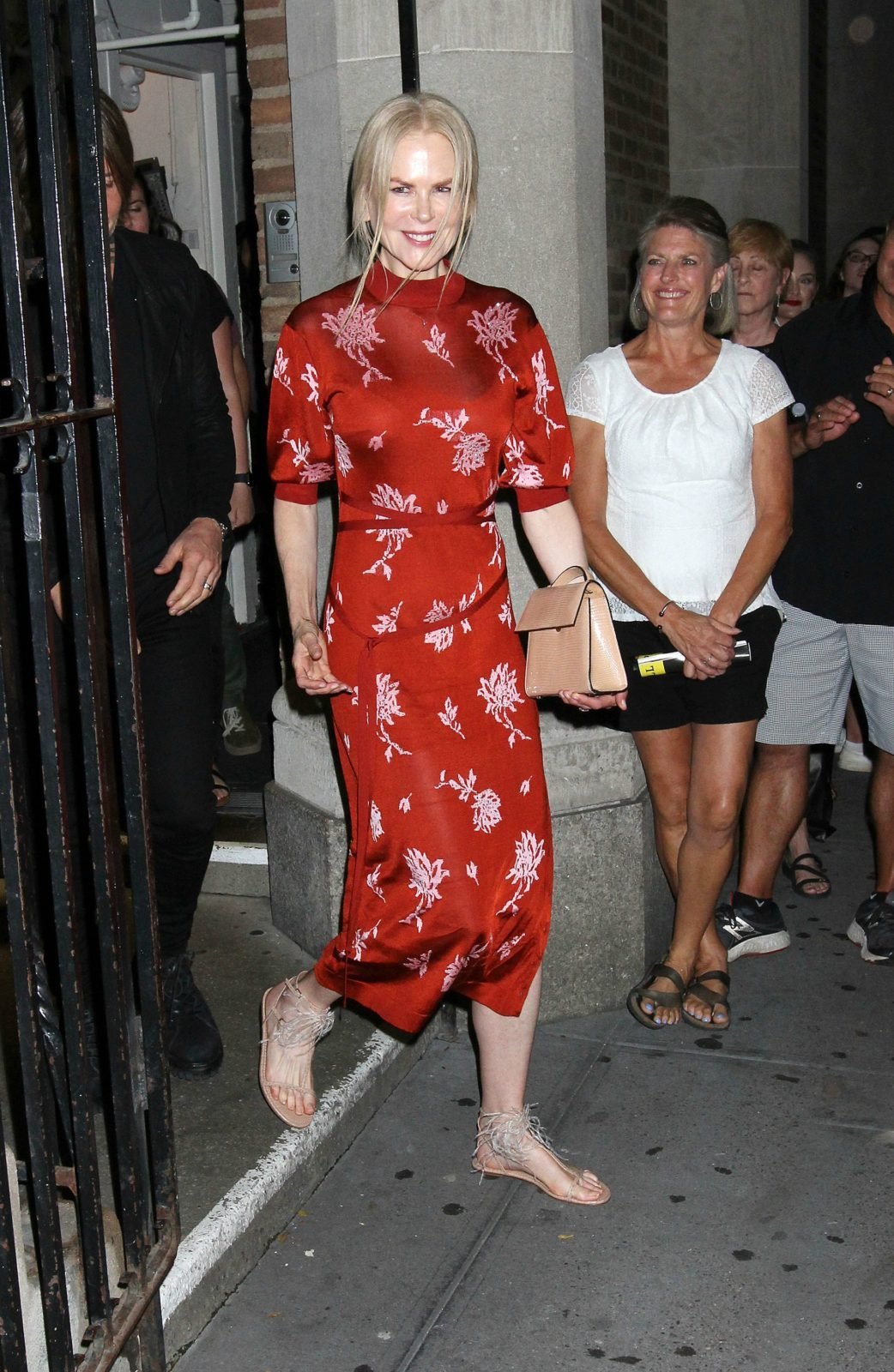 Nicole Kidman opted for an oriental-style red dress. Source: Getty.