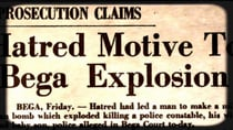 The headline of the article as it appeared in the Canberra Times on August 10, 1957. Source: Trove/National Library of Australia