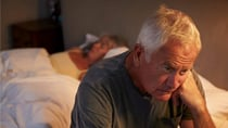 If you or a loved one is experiencing sleep apnoea, posture and the way you use technology could be to blame. Source: Getty (Stock image used)
