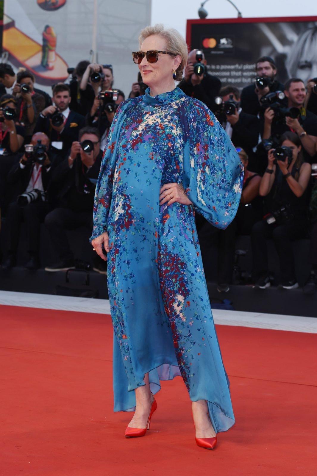 Meryl Streep showed off some dramatic gypsy sleeves. Source: Getty.