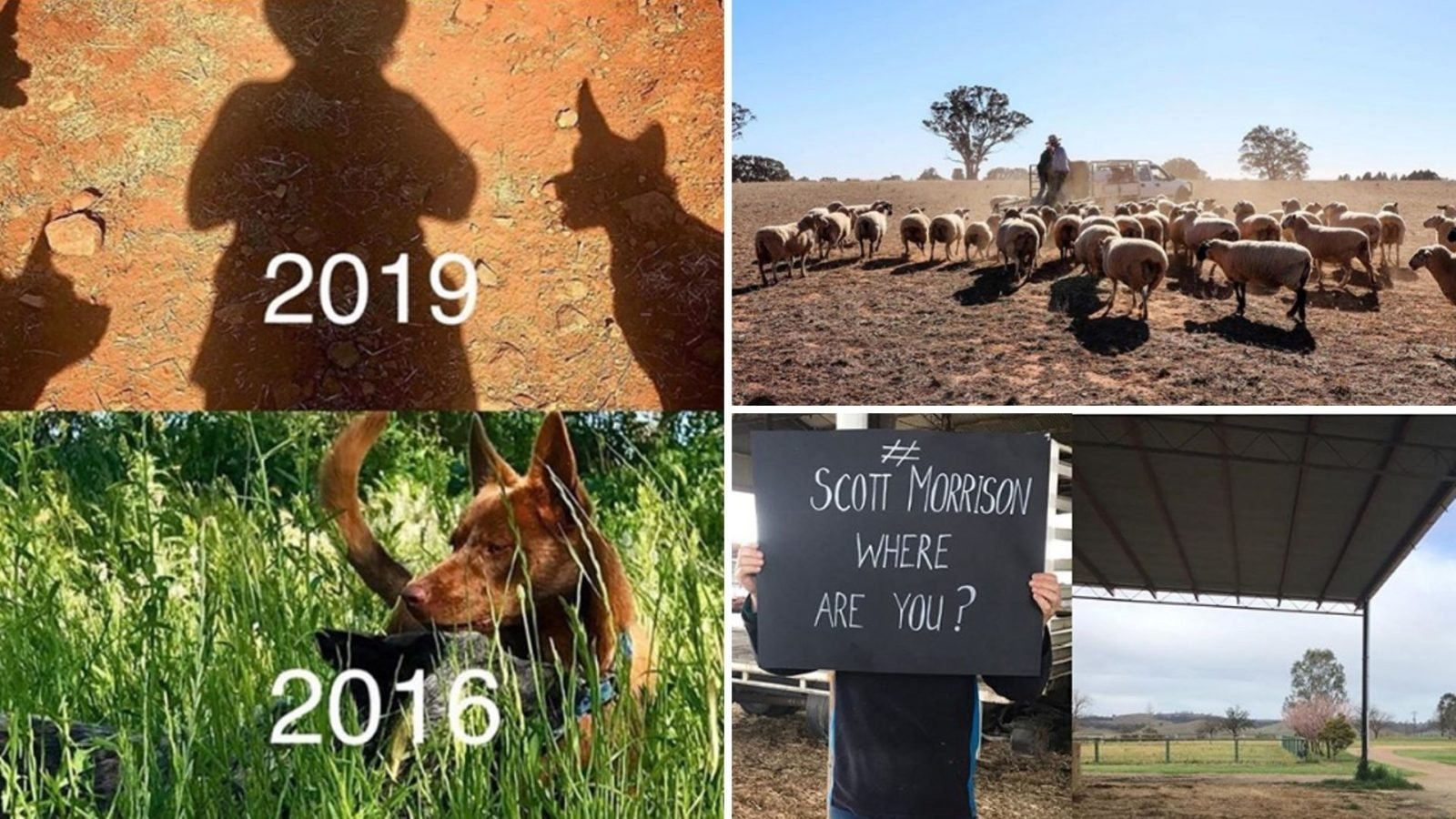 Farmers drought photos where are you Scott Morrison