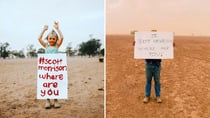 Farmers are sharing horrific photographs of the impact of the drought on social media, along with the hashtag #scottmorrisonwhereareyou. Source: Instagram.com/thewestiswaiting