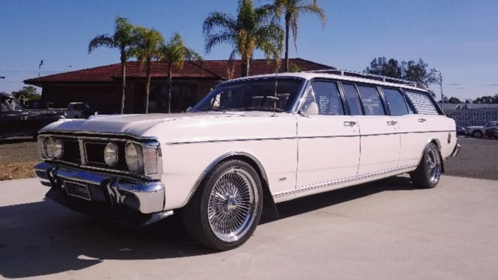 The rare factory-built 1970 Ford 6-Door XY Falcon has a starting price of just $1. Source: Lloyds Auctions.