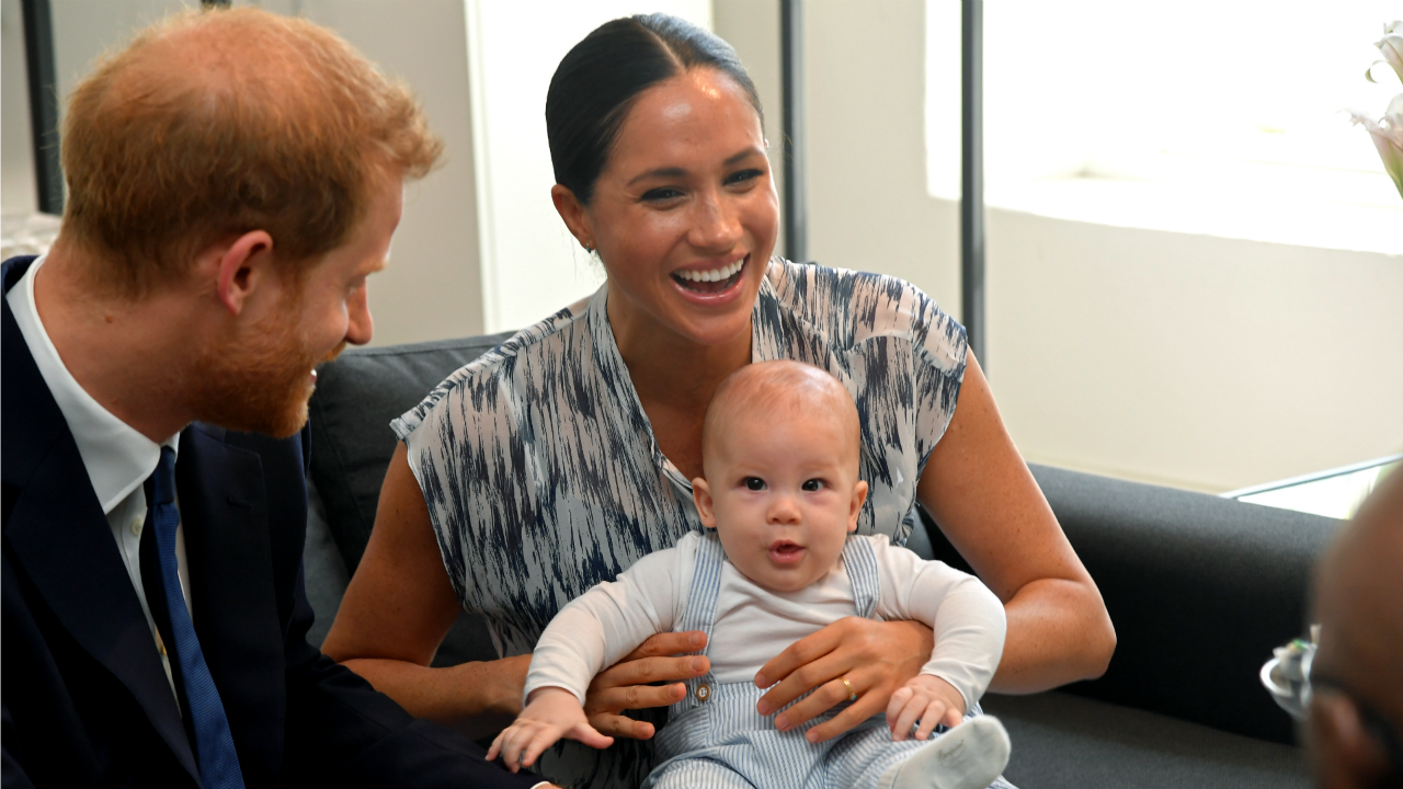 Archie stole the show with parents Meghan and Harry. Source: Getty.