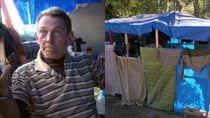 Bob revealed he's lived 40 years in his makeshift tent. Source: SBS/Struggle Street.