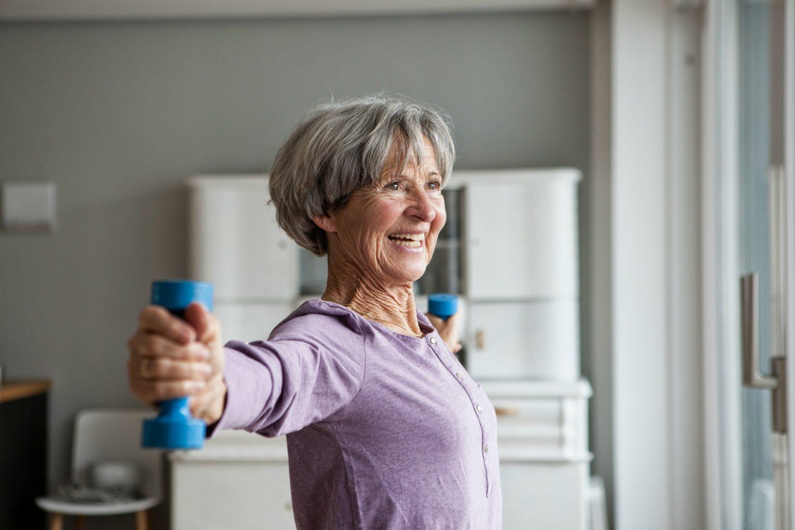 weight training senior woman