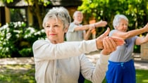 Over-60s should aim for at least 30 minutes of moderate physical activity every day. Source: Getty