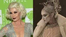 Catherine Zeta-Jones and Celine Dion completely transformed for Halloween. Source: Getty (left) and Instagram/Celine Dion (right).