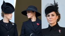 Lest we forget: Catherine, Meghan and Sophie make a sombre appearance in black