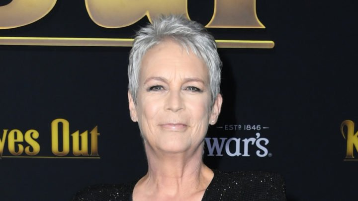Jamie Lee Curtis made a bold statement in a black sparkly gown for the premiere of Knives Out in California. Source: Getty