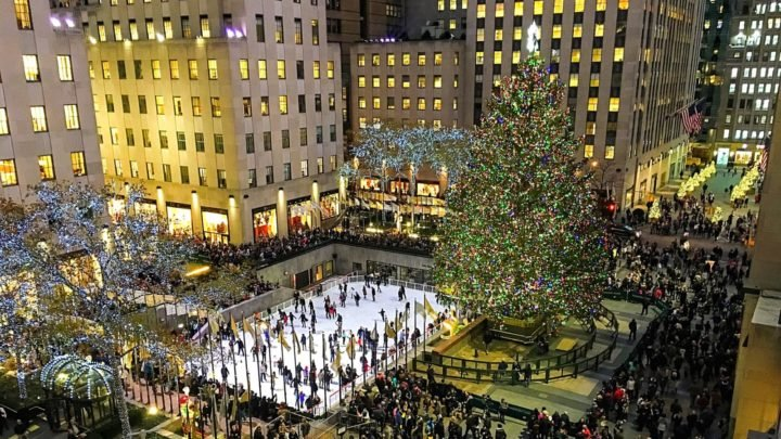 One of the things Pamela and her daughter loved on their holiday was the Rockefeller Center skating rink. Source: Getty Images