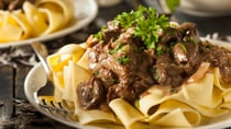 This delicious beef stroganoff will have everyone asking you for the recipe! Source: Getty.