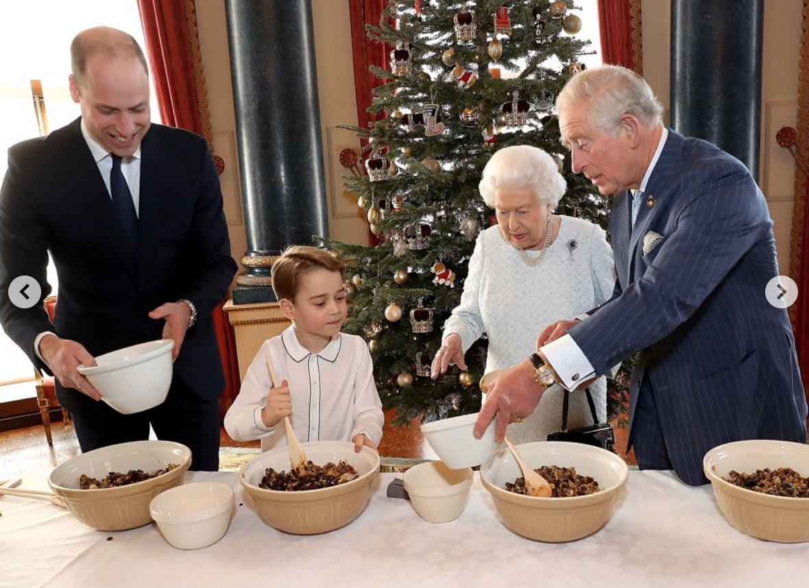 Prince George Makes Christmas Pudding With Queen Elizabeth In New Photos