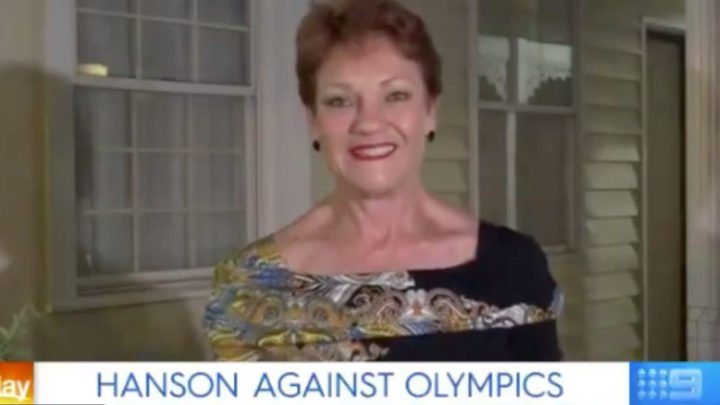 Pauline Hanson discussed the bid on Friday morning's episode of the Today show. Source: Twitter/Today Show.