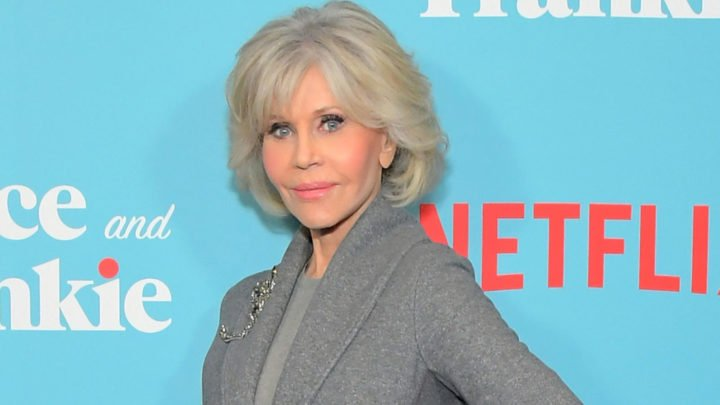 Jane Fonda debuted the style at a screening of her Netflix series Grace and Frankie. Source: Getty.