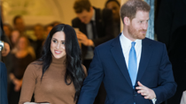 Harry and Meghan picture here earlier this year, have issued a warning to British press. Source: Getty.