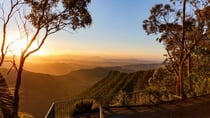 Take in a spectacular sunrise or sunset over the McPherson Range and the Albert Valley from Moonlight Crag at O'Reilly's Rainforest Retreat.