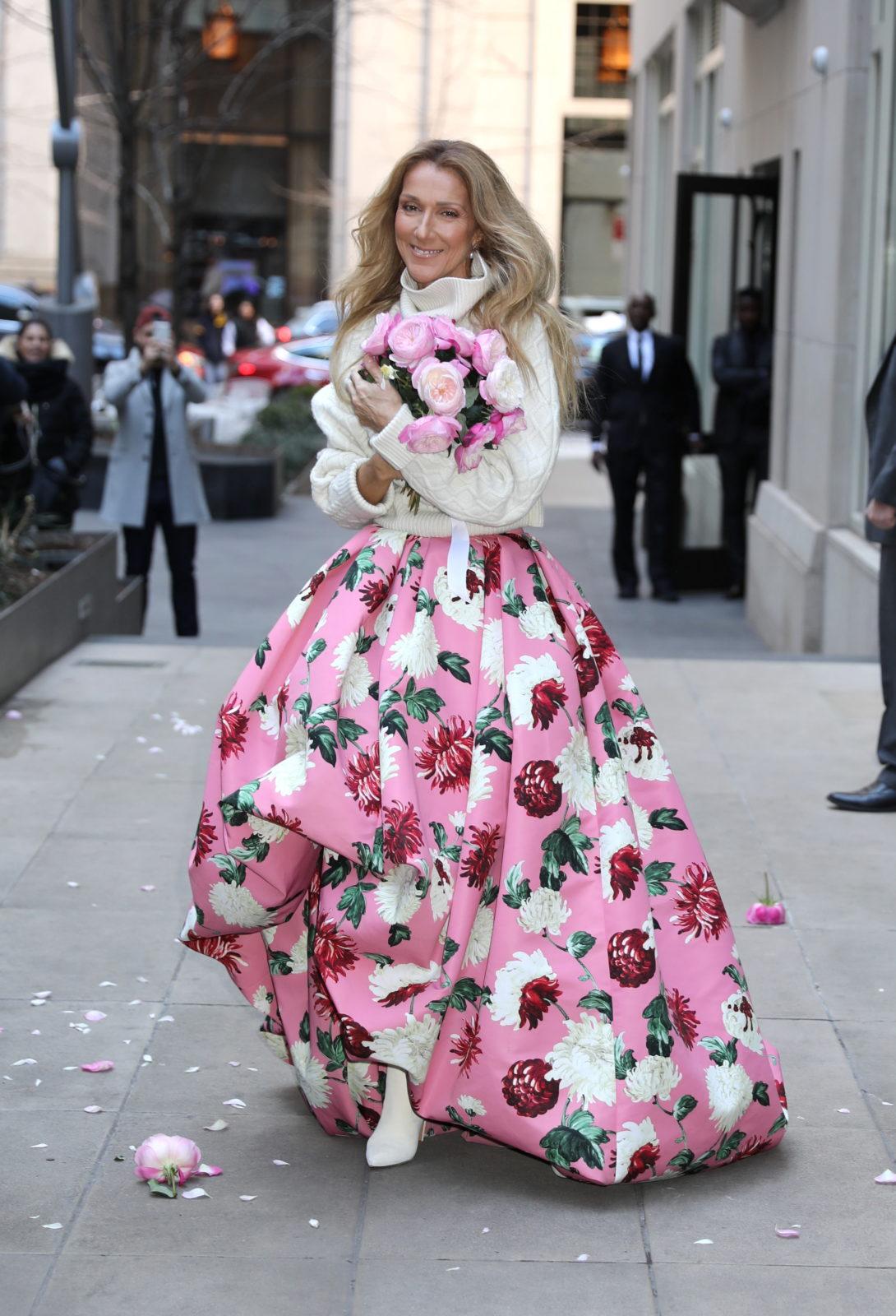 celine-dion-pink-skirt