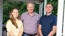 ADF veteran and Legacy volunteer Brian Hollis, centre, has supported Emily and James Wiltshire for the past 15 years – building a friendship that will last a lifetime.